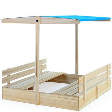 Zandbak, zonnedak, zitbanken, verstelbaardak, kantelbaar dak