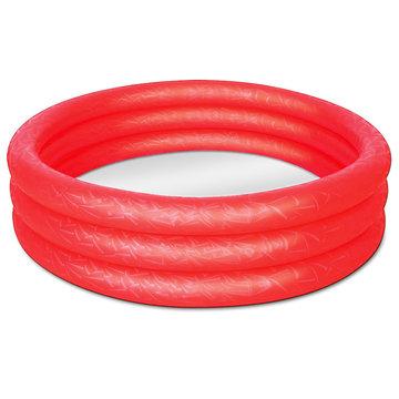 Zwembad, rood, kinderbadje, babybadje