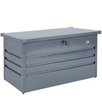 Opbergbox, opbergkist, metaal, afsluitbaar, tuinkussenbox, tuinkussen opberger, tuinkist