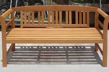 Tuinbank Roos, houten bank, tuinmeubel, hardhout