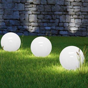Solarbol, wit, lichtbol, 30cm, LED, bol verlichting, zonne energie, energiezuinig
