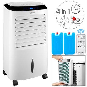 4 in 1 mobiele aircooler, wit, ionisator, luchtbevochtiger, afstandsbediening
