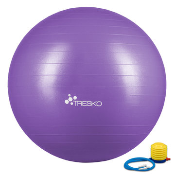 Yogabal Paars 55 cm, Trainingsbal, Pilates, gymbal