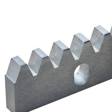 Rail, uitbreiding voor schuifpoort, tandrack (staal), 105 cm, getande rail
