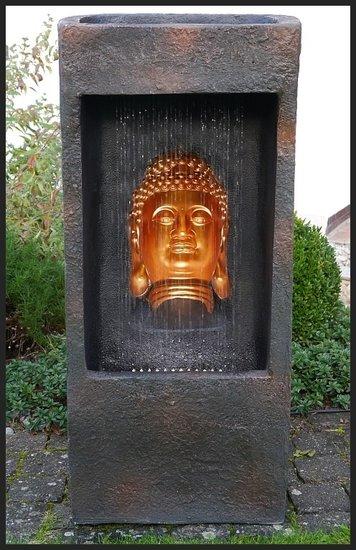 Boeddha Met Led Verlichting.3d Boeddha Buddha Fontein Waterpartij 100 Cm Waterornament Led