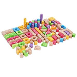 Schuim bouwstenen 100 stuks, blokken, bouwstenen
