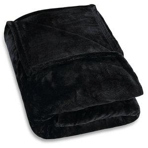 Microvezel Deken zwart, 200x150cm