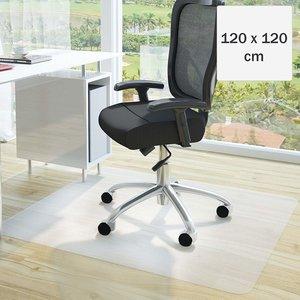 Vloerbeschermer, 120 x 120, vloermat, vloerbeschermingsmat, voor harde vloeren