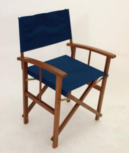 2 x Regisseursstoel, vouwstoel, opklapbare stoel, hardhouten stoel Blauw