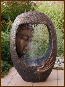 Boeddha buddha fontein waterpartij 90 cm waterornament led somultishop - Gartenbrunnen buddha ...