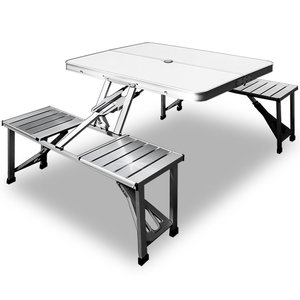 Picknick Tafel Aluminium.Campingtafel Picknicktafel Aluminium Blad En Zitting Somultishop