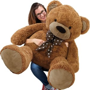 Teddybeer 150 cm, Valentijnsdag,  knuffelbeer, teddy XXL, knuffel, beer, bruin