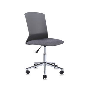 Hoge Bureau Stoel.Design Bureaustoel Draaistoel Zwart Met Grijs Hoge Rugleuning