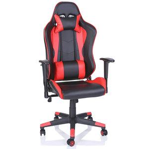 Verstelbare Bureaustoel Zwart.Racing Bureaustoel Zwart Rood Sportstoel Managersstoel