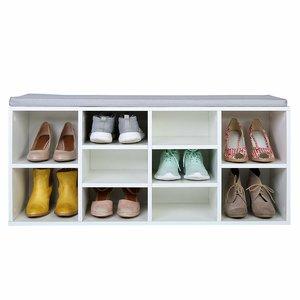 Schoenenkast voor 10 paar schoenen, schoenenrek, schoenrek, met zitplek, opbergkast