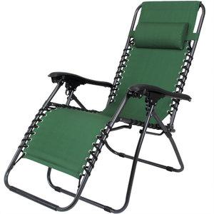 Super Luxe inklapbare ligstoel, groen - Somultishop TU02