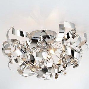 Plafondlamp, kroonluchter, decoratief, rvs, verchroomd