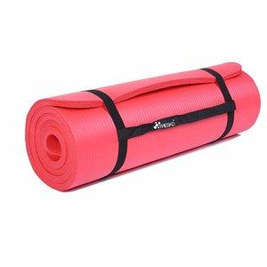 Yoga mat rood, 190x100x1,5 cm, fitnessmat, pilates, aerobics
