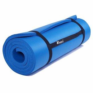 Yoga mat blauw, 190x100x1,5 cm, fitnessmat, pilates, aerobics