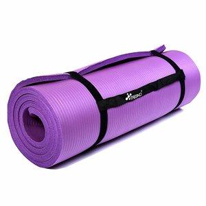 Yoga mat lila, 190x100x1,5 cm dik, fitnessmat, pilates, aerobics