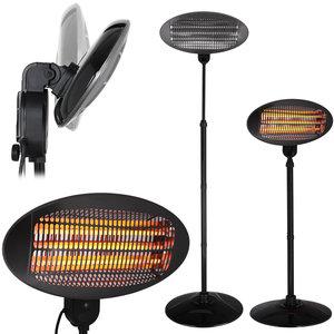 Terrasheater, terrasverwarming, in- en outdoor, elektrische terrasverwarmer, warmtestraler, straalkachel