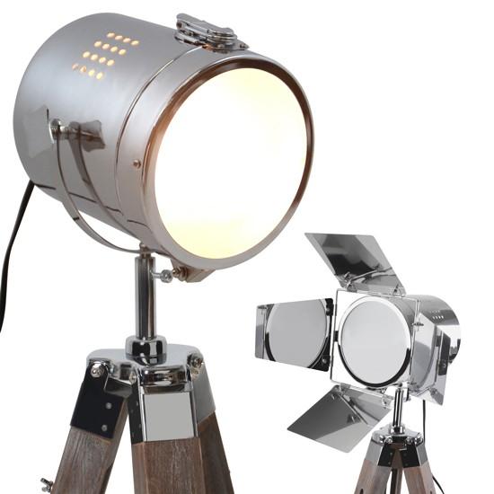 Verwonderlijk Staande lamp, vloerlamp, filmlamp, lamp op statief, antiek hout SF-71