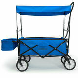 Bolderkar Blauw, handkar, opvouwbaar, afneembaar dak_