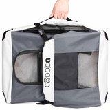 Opvouwbare honden transportbox grijs, maat XL _