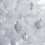 Kunstkerstboom, wit, 180 cm, kerstboom, met standaard_