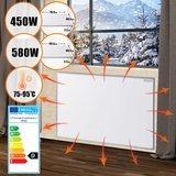 Elektrische verwarming, infrarood verwarming, paneelverwarming, verwarmingsplaat, 450 watt, stofvrij, warmtepaneel_