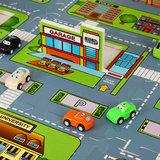 Speelmat, puzzeltapijt, straatmotief, speelkleed_