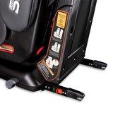 Autostoeltje grijs met Isofix, leer, meegroeistoel, kinderstoel, 9 kg - 36 kg, 1-12 jaar_