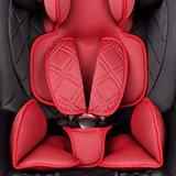 Autostoeltje rood, met Isofix, leer, meegroeistoel, kinderstoel, 9 kg - 36 kg, 1-12 jaar_