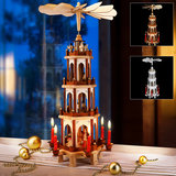 Kerstpiramide uit hout 60 cm, kerstdecoratie_