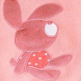 Babydeken met voetenzak, roze, gevoerd_