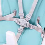 Kinderstoel, blauw, meegroeistoel, in hoogte verstelbaar, 2 in 1_