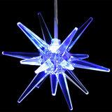 Kerstster LED, 7 kleuren, acryl, kerstversiering, kerstverlichting_