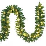 Kerstslinger, 100 LED's, 5 meter, met decoratie, voor binnen & buiten, met afstandsbediening_