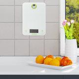 Digitale keukenweegschaal, wit, LCD scherm, Huishoudelijke Weegschaal_