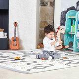 Dubbelzijdige speelmat alpaca en auto 200 x 180 cm_