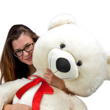 Teddybeer 100 cm, Valentijnsdag, knuffelbeer, Teddy XL, knuffel, beer wit_