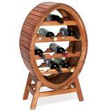 Wijnrek, ovaal voor 12 flessen_