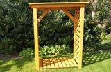 Brandhoutrek, houten rek voor brandhout, 148 x 119 x 45 cm_