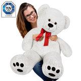 Teddybeer 56 cm, Valentijnsdag, knuffelbeer, Teddy L, knuffel, beer wit_