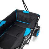 Bolderkar, transportkar, opvouwbaar, zwart/ blauw, offroad_