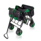 Bolderkar, transportkar, opvouwbaar, zwart/groen, offroad_