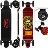 Offroad longboard, skateboard, drop-down board, ABEC 9 lagers, rood_