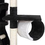Krabpaal, kattenkrabpaal, kattenpaal, 240-260 cm, zwart/wit_