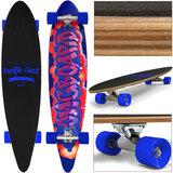 Longboard, skateboard Pacific 112 cm , blauw, 44 Inch_