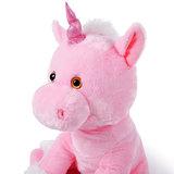 Knuffeldier roze eenhoorn, unicorn, 72 cm_